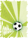 Green football explosion.Vector background for posters Stock Photo