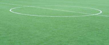 Green football field Stock Photos