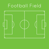 Green football field. The scheme of a football field. top view. Board to parse the tactics of attack, defense vector illustration