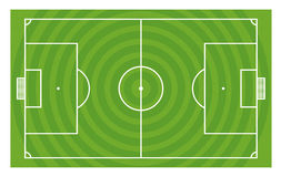 Green football field  template Royalty Free Stock Images