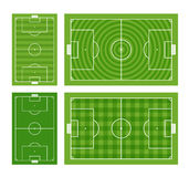 Green football fields collection Stock Images