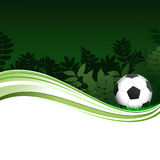 Green Football Poster With Trees Royalty Free Stock Image