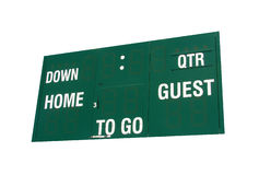Green football scoreboard Stock Images
