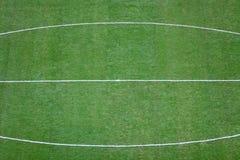 Green football (soccer) field Stock Photo