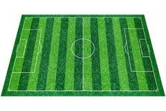 Green Football Stadium field Royalty Free Stock Images