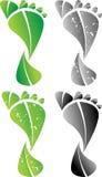 Green Footprint. A Colourful Green Eco Carbon Footprint Illustration stock illustration