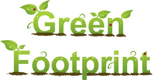 Green Footprint Stock Photography