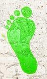 Green Footprint stock photography