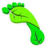 The green footprint Royalty Free Stock Photo