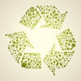 Green footprint Royalty Free Stock Images