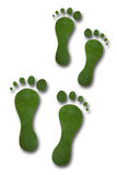 Green Footprints Royalty Free Stock Photo