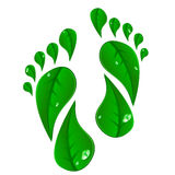 Green_footprints Royalty Free Stock Image