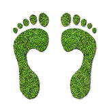 Green footprints Royalty Free Stock Image