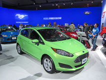 Green Ford Fiesta Stock Photography