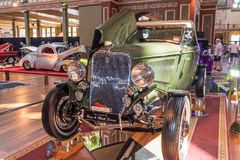 Green Ford hot rod car. At Victorian Hot Rod & Cool Rides Show in Melbourne, Australia Stock Image