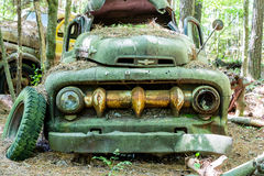 Green Ford Pickup with Massive Grill Royalty Free Stock Images
