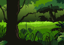 Green forest. Hand drawn Illustration of Green forest background Stock Photos