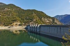 Green Forest around Vacha dam, Rhodopes Mountain, Plovdiv Region Royalty Free Stock Photo
