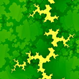 Green Forest Fractal or Clouds. Creative Abstract Concept. Grunge Background. Unique Digital Illustration Design. Modern Image. Stock Photos