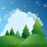 Green Forest and Grass Background Royalty Free Stock Image