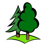 Green forest icon, icon cartoon Stock Photos