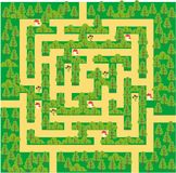 Green forest maze Stock Photography