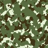 Green forest seamless camo Stock Photography