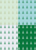 4 green forest seamless pattern vector. Beautiful designs for printing  Stock Images