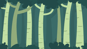 Green forest with shadow Royalty Free Stock Photography