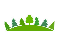 Green forest symbo Stock Image