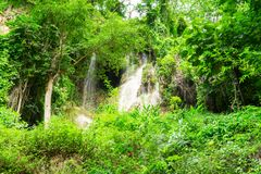 Waterfall in nature park, Thailand stock image