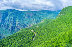 The green forests of Vorotan Canyon Royalty Free Stock Photos