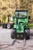 Green forklift Avant 635 Stock Photo