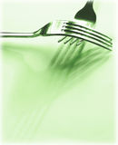 Green forks Royalty Free Stock Images