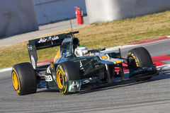 Green Formula One car Royalty Free Stock Image