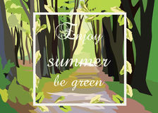 Green Forrest Trees Vector Royalty Free Stock Image