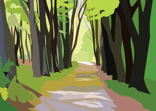 Green Forrest Trees Vector Royalty Free Stock Photography