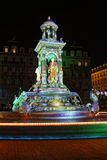 A green fountain on Place des Jacobins Stock Images
