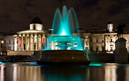 Green fountain at Trafalgar Square Stock Photography