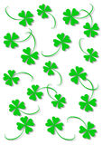 Green four leaf clover. S on the white background Royalty Free Stock Photos