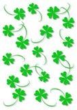 Green four leaf clover. S on the white background stock illustration