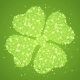 Green four-leaf clover Royalty Free Stock Image