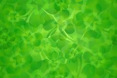 Green four leaf clover / shamrock seamless pattern background stock images