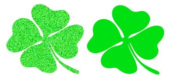 Green four leaf clover on white background Stock Photography