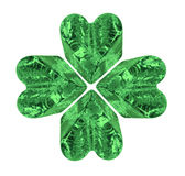 Green Four Leaf Crystal Clover Royalty Free Stock Image