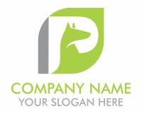 Green fox silhouette logo Royalty Free Stock Photo