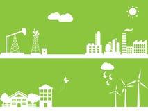 green för alternativ energi Arkivbild