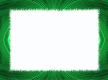 Green Fractal Border with White Copy Space. Green fringe fractal border with white copy space Stock Images