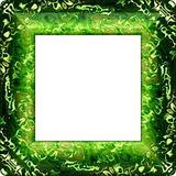 Green fractal decorative frame with rounded corners Stock Photography