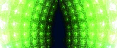 Green Fractal Lights Stock Photos